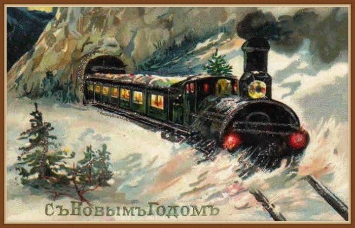 Старые открытки с новым годом