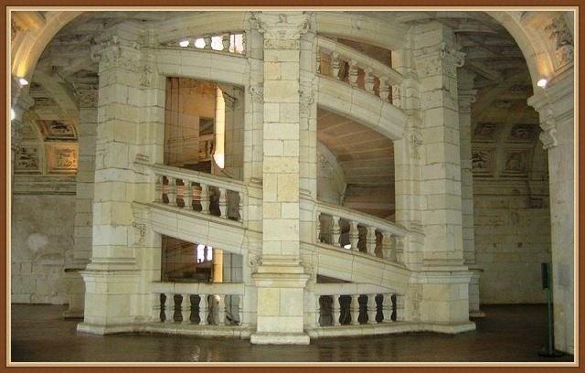 Замок Шамбор - лестница Леонардо да Винчи