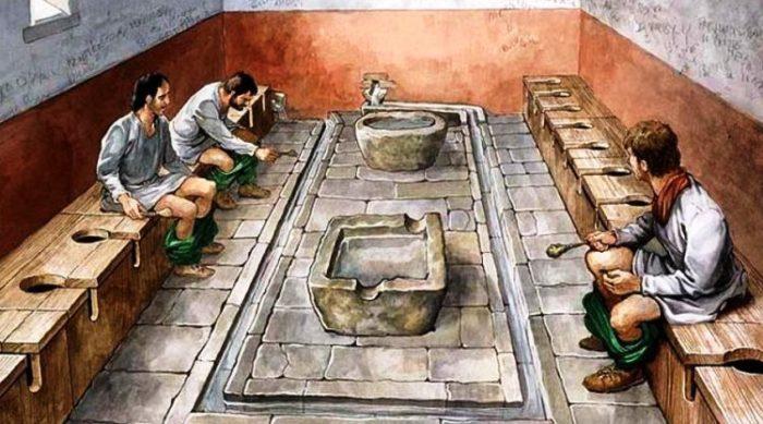 туалеты древнем мире